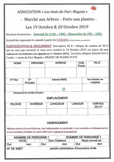 Inscriptions 2019
